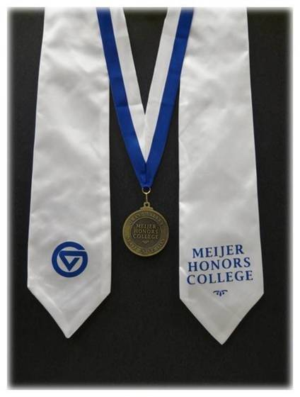 Frederik Meijer Honors College Stole and Medallion